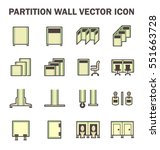vector icon of partition wall... | Shutterstock .eps vector #551663728