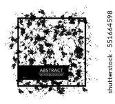 black graphic wallpaper. vector ... | Shutterstock .eps vector #551664598