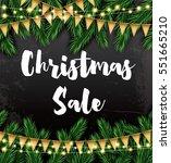 christmas sale. business card... | Shutterstock . vector #551665210