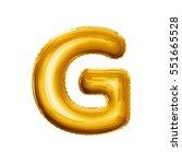 balloon letter g. realistic 3d... | Shutterstock . vector #551665528