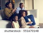 african descent family house... | Shutterstock . vector #551670148