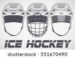 set of classic goalie hockey... | Shutterstock .eps vector #551670490