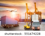 logistics and transportation of ... | Shutterstock . vector #551674228