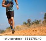 male runner of trail. he was... | Shutterstock . vector #551675140