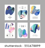 set of creative universal art... | Shutterstock .eps vector #551678899