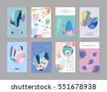 set of creative universal art... | Shutterstock .eps vector #551678938