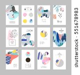 set of creative universal art... | Shutterstock .eps vector #551678983