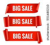 sale banner set. realistic red... | Shutterstock .eps vector #551680210