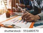 businessman hand using laptop... | Shutterstock . vector #551680570