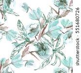 flowers seamless pattern.... | Shutterstock . vector #551680726