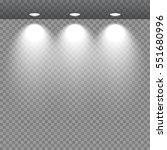 spotlights showcase. lighting... | Shutterstock .eps vector #551680996