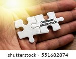 customer satisfaction written... | Shutterstock . vector #551682874