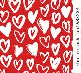 hand drawn paint seamless...   Shutterstock .eps vector #551683234