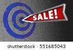 3d illustration of target on... | Shutterstock . vector #551685043