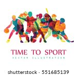 color sport background.... | Shutterstock .eps vector #551685139