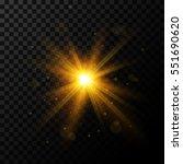 golden burst  light effect on... | Shutterstock .eps vector #551690620