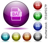 bat file format icons in color... | Shutterstock .eps vector #551693179