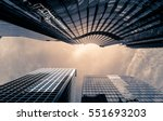 office buildings stretch up to... | Shutterstock . vector #551693203