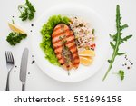 Grilled Salmon With Rice And...