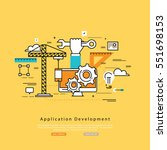 application development flat... | Shutterstock .eps vector #551698153