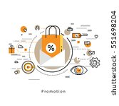 flat line modern corporate... | Shutterstock .eps vector #551698204