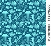 vector seamless pattern with... | Shutterstock .eps vector #551698270
