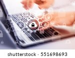 protect cloud information data... | Shutterstock . vector #551698693