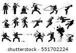 ninja assassin movement and... | Shutterstock . vector #551702224