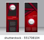 roll up banner stand template.... | Shutterstock .eps vector #551708104