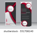 roll up banner stand template.... | Shutterstock .eps vector #551708140