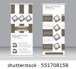 roll up banner stand template.... | Shutterstock .eps vector #551708158