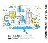 internet network security... | Shutterstock .eps vector #551709538