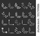 hand drawn corners. vector.... | Shutterstock .eps vector #551709886