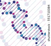 abstract dna background. vector ... | Shutterstock .eps vector #551710384