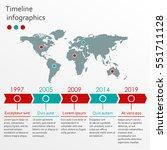 world map infographics template.... | Shutterstock .eps vector #551711128