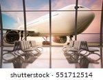 3d rendering airport terminal... | Shutterstock . vector #551712514