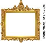 golden decor mirror frame....   Shutterstock .eps vector #551712928