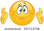puzzled emoticon with shrugs... | Shutterstock .eps vector #551713738