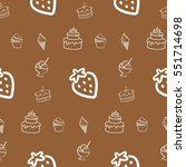 pattern. background with cakes  ... | Shutterstock .eps vector #551714698