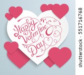 happy valentines day background ... | Shutterstock .eps vector #551716768