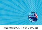 business card showing... | Shutterstock . vector #551719750