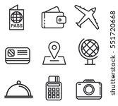 travel icons set line ... | Shutterstock .eps vector #551720668