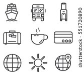 travel icons set line ... | Shutterstock .eps vector #551720890