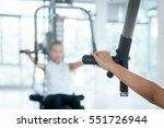 selective focus on hand of... | Shutterstock . vector #551726944