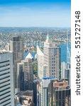 sydney buildings on a sunny day. | Shutterstock . vector #551727148