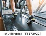 sporty man at jogging track | Shutterstock . vector #551729224