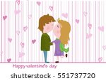 vector postcard for valentine's ... | Shutterstock .eps vector #551737720