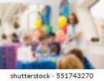 children birthday party... | Shutterstock . vector #551743270