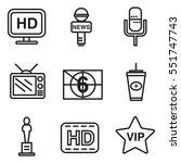 celebrities universal movie... | Shutterstock .eps vector #551747743