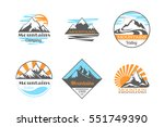 mountains vector logo set.... | Shutterstock .eps vector #551749390